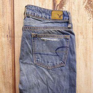 American Eagle Boy Crop Jeans Sz 0